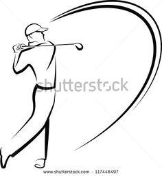 Tee Off Stock Vectors & Vector Clip Art | Shutterstock Clipart Black And White, Black And White Drawing, Golf Drawing, Owl Stencil, Golf Images, Trophy Design, Golf Art, Vintage Golf, Art Icon
