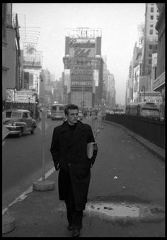 Photogs and Photograph's Photographer of the Day for October 29th, 2012 -- Dennis Stock (1928 - 2010) USA. New York City. 1955. James DEAN in Times Square. -- Magnum Photos