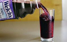 Grape Juice prevents the spread of a stomach virus. The acid in the juice prevents the spread of viruses in the intestines. It has to be 100%, cranberry juice works the same.