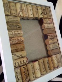 Wine Cork Frame on Etsy, $20.00