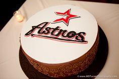 Simple Houston Astros baseball groom's cake - Houston wedding photography - MD Turner Photography