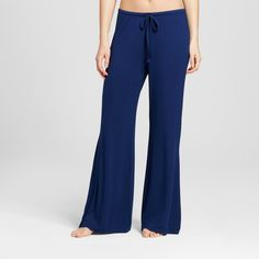 Women's Wide Leg Pajama Pants - Total Comfort - Nighttime Blue XL