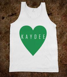 Kappa Delta Frat Tanks - Kappa Delta Heart. Kappa Delta Sorority Shirts.
