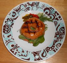 Shawna's Food and Recipe Blog: Cajun Spice Gravlax and Neufchatel Grilled Glazed Donut Sandwich with Bermuda Onion, Heirloom Tomato and Upla...
