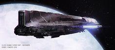 ArtStation - Novembre Cargo Spaceship, Daniel Comerci