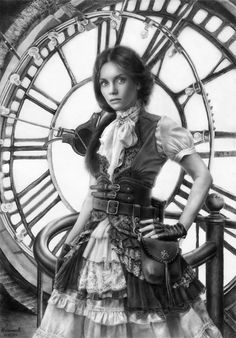 when we do our costumes this year... considering we're going all steampunk-ed out...we really should do some photos in black and white