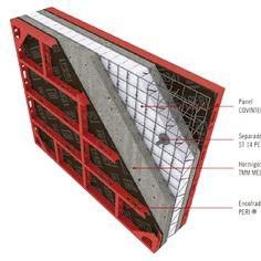Hormigón Termomuro Cement House, Cement Work, Concrete Molds, Precast Concrete, Building Design, Building A House, Simple House Exterior Design, Insulated Concrete Forms, Compact House