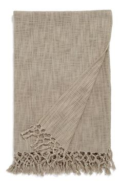 Nordstrom at Home Nordstrom at Home Lattice Fringe Trim Throw available at #Nordstrom