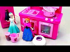 Toys Fun Land: Pink Frozen Baby Cooking Electric Kitchen Toys Pla...