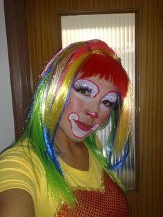 Female Clown, Cute Clown, Clown Faces, Clown Makeup, Clowns, Scary, Costumes, Halloween, Shirts