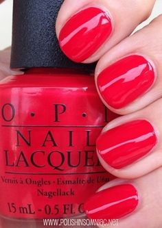 OPI Coca-Cola Red You can never go wrong with Red for any occasion in any season!