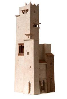 Sabagh al-Khayr fi Marrakesh by Arthur Meijer. Clay Houses, Ceramic Houses, Miniature Houses, Concept Architecture, Ancient Architecture, Architecture Design, Pottery Houses, Architectural Sculpture, Modelos 3d
