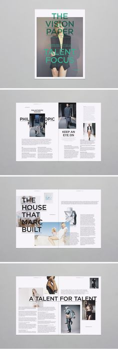 Mark Brunswicker's work on The Vision Paper #layout #magazine #design