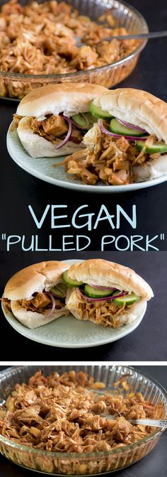 vegan pulled pork recept recipe jackfruit antilliaans eten jurino Jackfruit Pulled Pork, Vegan Pulled Pork, Vegan Diner, Vegetarian Recipes, Healthy Recipes, Healthy Dishes, Asian Recipes, Veggies, Meals