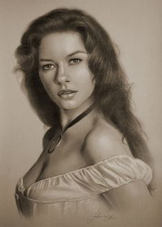 Catherine Zeta Jones….Pencil art by Dumage