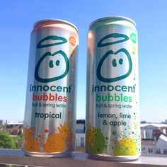 Our new bubbles. A lightly sparkling blend of fruit juice, spring water and absolutely nothing else. Best enjoyed with blue skies.