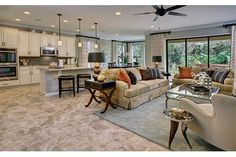 Hampshire by Standard Pacific Homes at The Reserve At Golden Isle Open Space Living, Living Spaces, Living Rooms, Standard Pacific Homes, New Homes For Sale, Building A House, Outdoor Furniture Sets, House Plans, Floor Plans