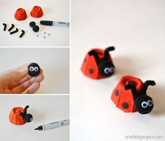 These egg carton ladybugs are such a fun and easy craft for kids! And they'r… These egg carton ladybugs are such a fun and easy craft for kids! Arts crafts for work Spring Crafts For Kids, Easy Crafts For Kids, Toddler Crafts, Preschool Crafts, Easter Crafts, Projects For Kids, Diy For Kids, Kindergarten Crafts, Craft Kids