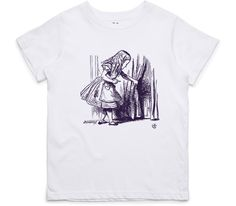 El Cheapo Alice in Wonderland - Looking for The Door (Purple) Youth White T-Shirt