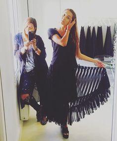 Kelly wearing a lace skirt by Elena Chalati