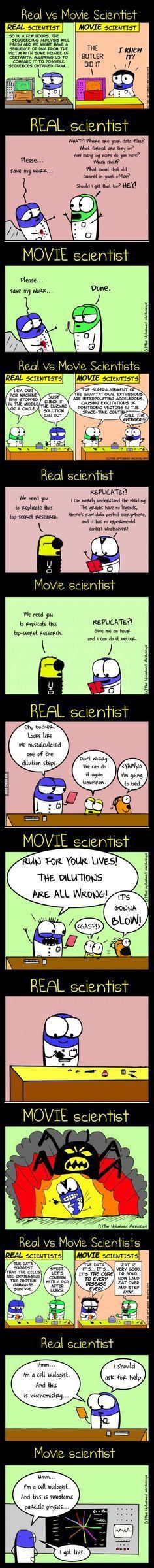 Real Life VS Movie (Scientist Edition)
