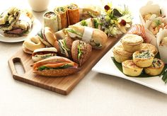 Corporate catering ideas for working lunch meetings - Meeting lunch ideas - Boxed Lunch Catering, Catering Menu, Lunch Menu, Wedding Catering, Sandwiches For Lunch, Sandwich Bar, Sandwich Ideas, Lunch Recipes, Vegetarian Recipes
