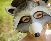 Handmade leather masks by Sundries and Plunder, at Etsy.com