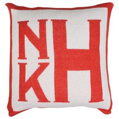 Stacked Square Monogram Pillow from Happy Habitat by Karrie Kaneda