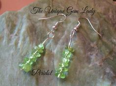 Hand Crafted Peridot Gemstone Dangle Dangly by TheUniqueGemLady, £2.20