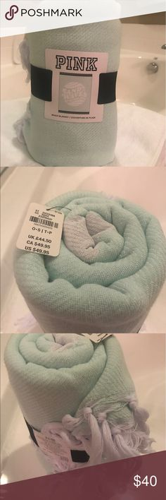 Mint Victoria's Secret Beach towel with tassels BNWT Victoria's Secret Other