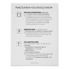 BBF Punctuation IV classroom poster