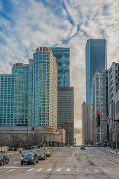 Chicago, Illinois - USA, America do Norte Chicago City, Chicago Skyline, Chicago Illinois, Background Images For Editing, City Buildings, Travel Usa, Natural, Adventure Travel, Skyscraper