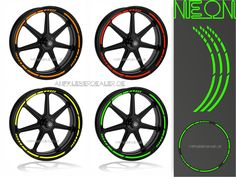 Artikelnummer:AI-6433 Name: Felgenaufkleber, Wheel Stripes NEON Farben
