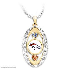 Wear our For the Love of the Game Denver Broncos Pendant and let the world know just how you feel about the team