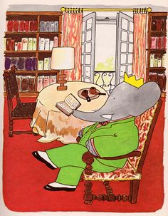 Babar's French Lessons -  by Laurent de Brunhoff, 1963.