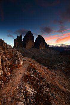 Tre Cime, Dolomites - Italy, province of Belluno, Veneto http://www.travelandtransitions.com/european-travel/