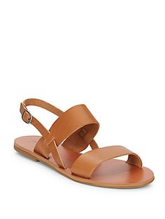 Designer Clothes, Shoes & Bags for Women Ankle Strap Flats, Flat Sandals, Leather Sandals, Shoes Sandals, Brown Flat Shoes, Leopard Print Sandals, London Summer, Slingback Flats, Lucky Brand Shoes