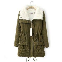 2015 Musim Dingin Wanita coat Kentalkan Hangat Menolak Wanita Kerah Jaket  Mantel Fashion baru Jaket doudoune da3c43ea7f