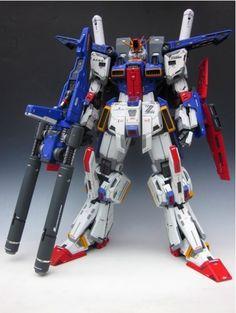 1/60 MSZ-010 ZZ Gundam 改 Work by kazu462384. For more Gundam and mecha, visit http://hangmen13.blogspot.com/