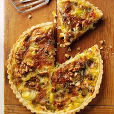 This stilton, leek and walnut quiche recipe from BakingMad.com is delicious served hot or cold. If you're not a fan of blue cheese, why not try cheddar?