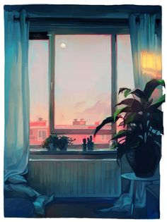 sunset, an art print by Lois van Baarle - INPRNT