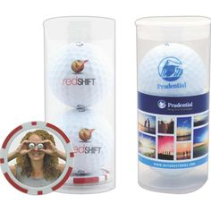2 Callaway Warbird 2.0 golf balls in a plastic tube.