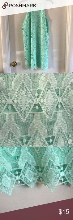 Mint cutout dress Mint dress with cutout pattern Xhilaration Dresses Midi