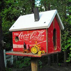 Cute coca cola birdhouse
