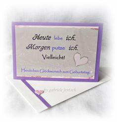 Geburtstag - Karte Geburtstag Geburtstagskarte  - ein Designerstück von Gabriele-Jentsch bei DaWanda
