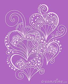Henna doodle Heart design