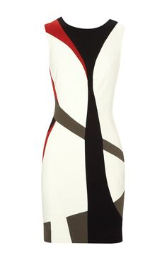Karen Millen Colourblock Dress Multicolour - suit-dresses.com - $89.34