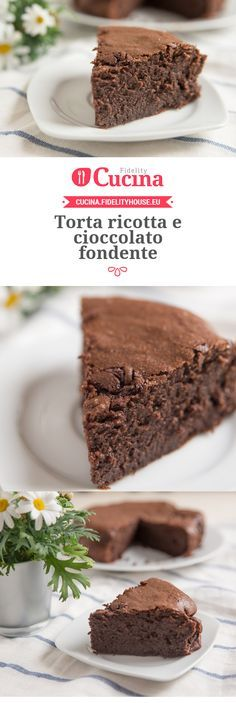 Torta ricotta e cioccolato fondente