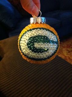 Items similar to Green Bay Packers Sequin Christmas Ornament on Etsy Sequin Ornaments, Christmas Ornaments To Make, Handmade Ornaments, Christmas Crafts, Christmas Ideas, Homemade Christmas, Christmas Decorations, Green Bay Packers Gifts, Green Bay Packers Fans