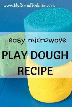 Microwave Playdough recipe - so easy to make. My Bored Toddler www.MyBoredToddler.com